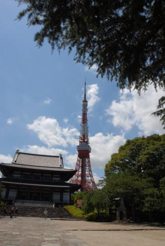 Tokyo Tower og Zojoji templet